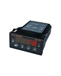 Universal 1/32 DIN PID Temperature Controller, Red