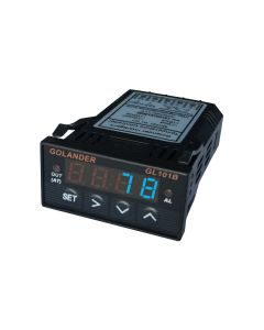 9-30V DC Powered 1/32 DIN PID Temperature Controller, Blue