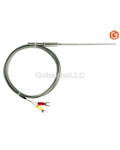 K Type Sheathed Thermocouple Sensor with 6 ft Cable